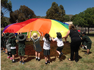 Cooperative Games using parachute games