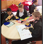 The Reading Cafe offers students an opportunity to practise their reading while they have some breakfast